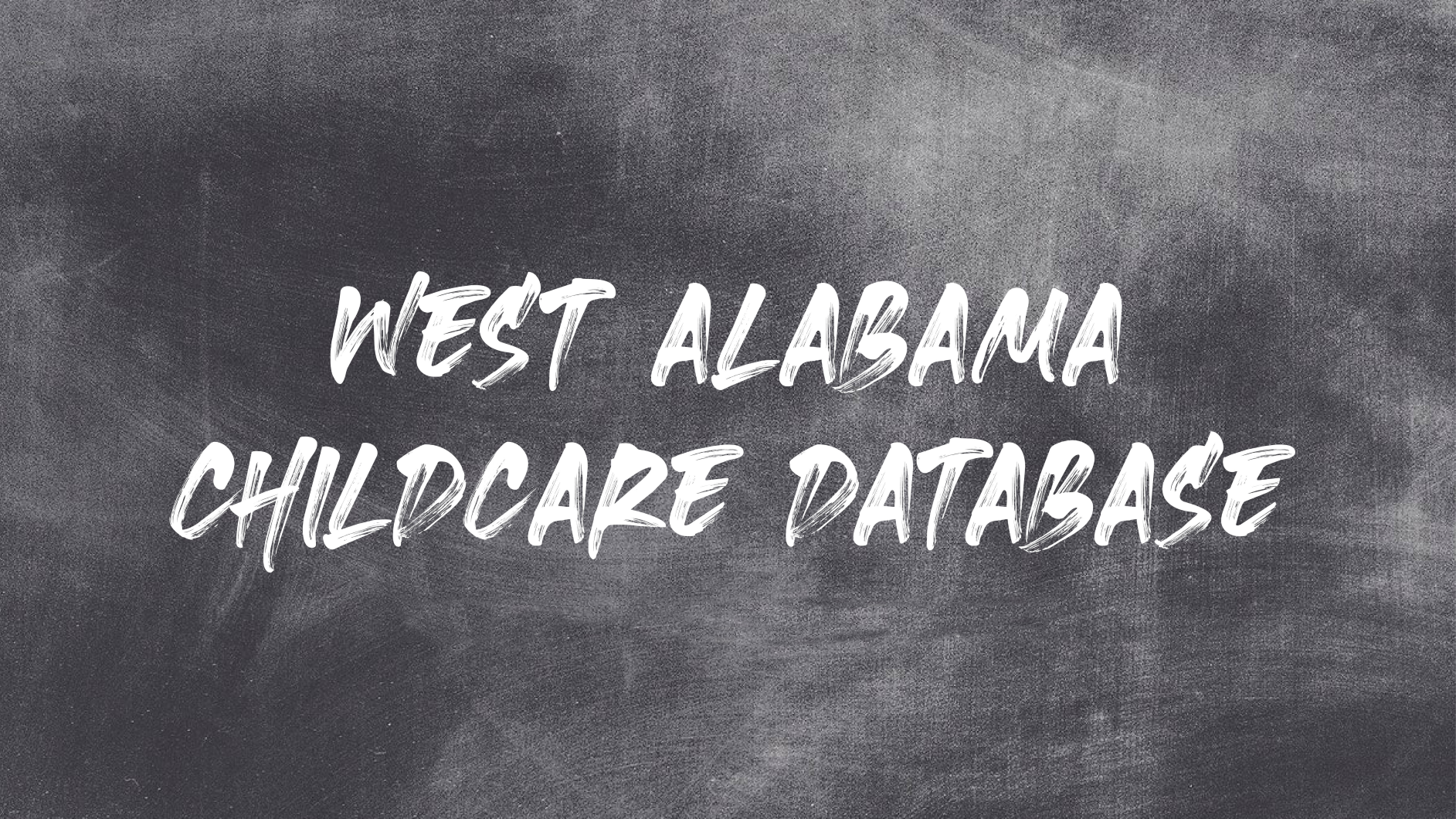 West Alabama Childcare Database